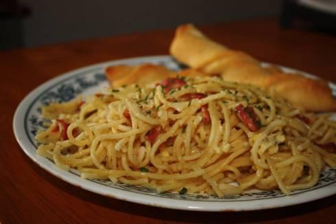 Vegetarian Spaghetti Carbonara