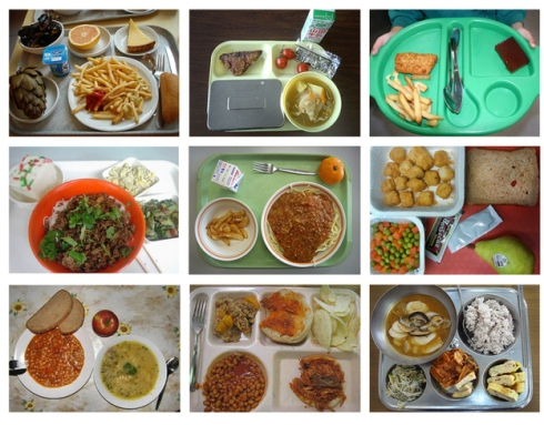 School lunch collage