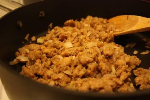 Cooking the Vegetarian Sausage