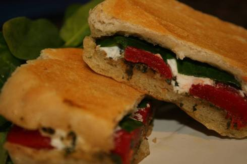 Roasted Red Pepper Panini