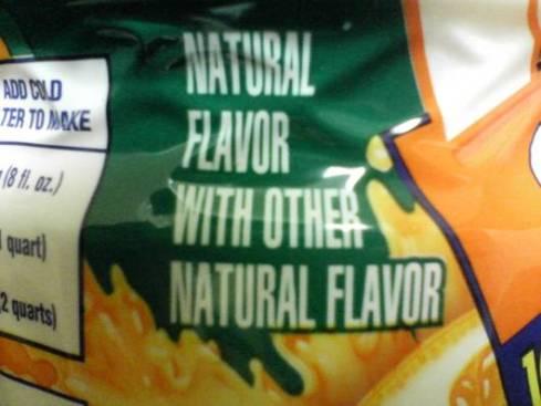 Natural Flavors Label