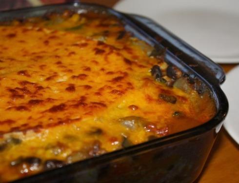Baked Mexican lasagna
