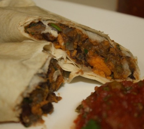 Vegan Sweet Potato Burrito