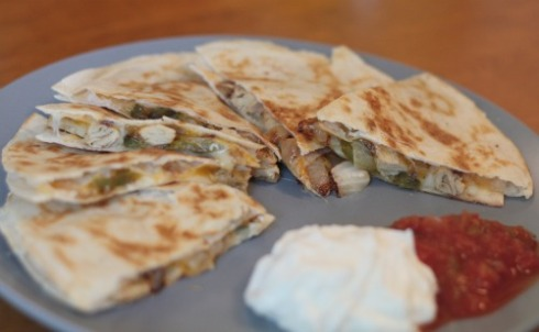 spicy chicken quesadilla