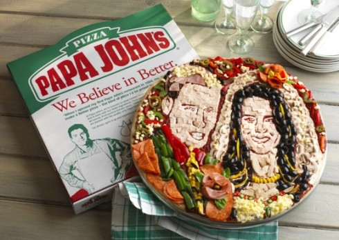 Papa Johns Royal Wedding Pizza