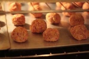 Baking sausage balls