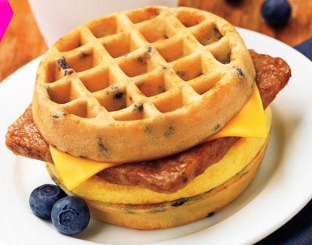 Blueberry Waffle Breakfast Sandwich Dunkin Donuts