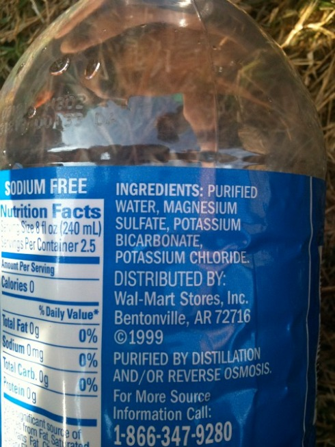 Walmart Water Ingredients