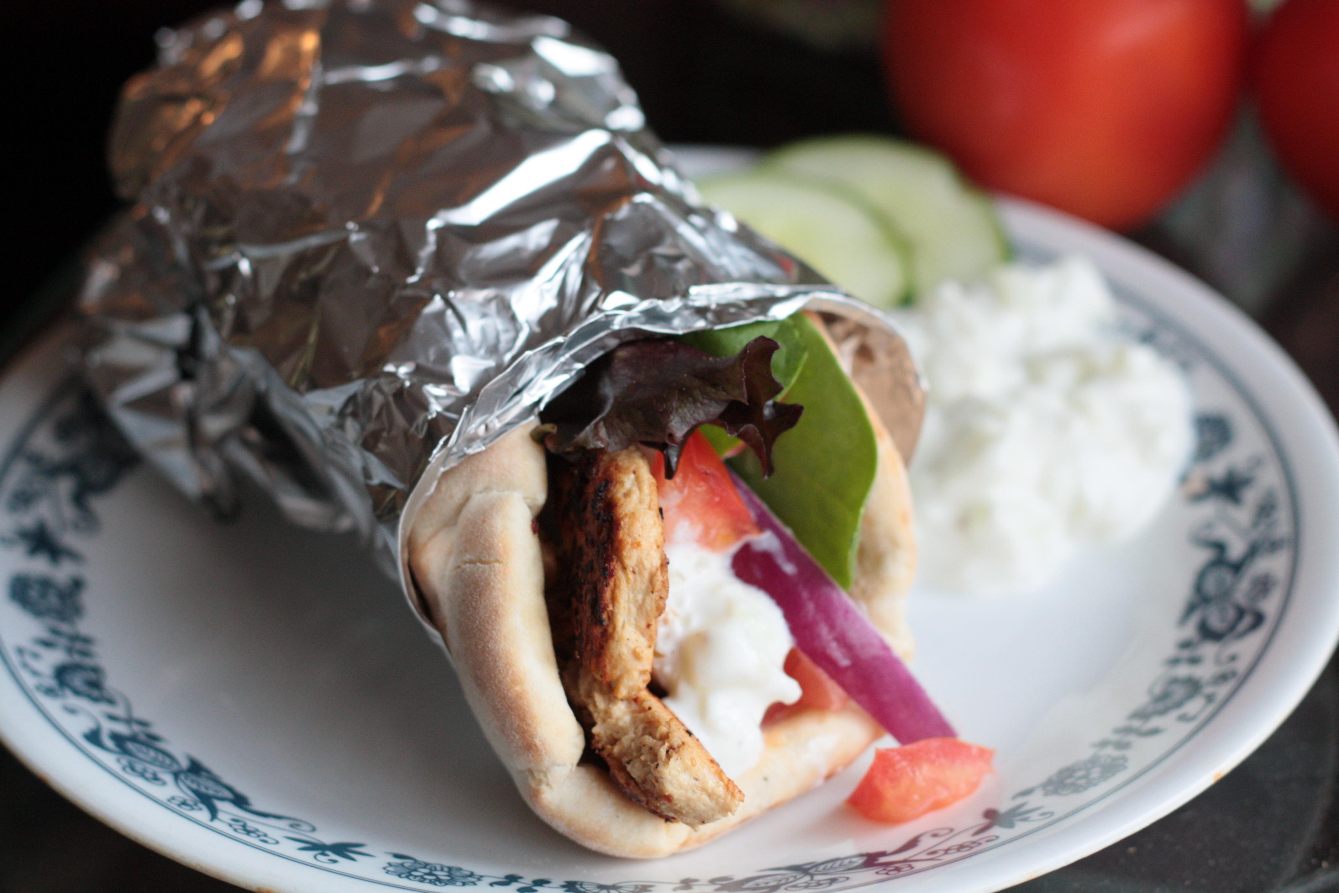 Vegetarian Gyros Healthy Food Lazy People