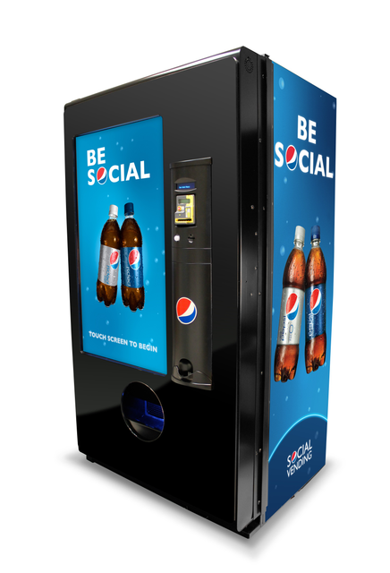pepsi social vending machine