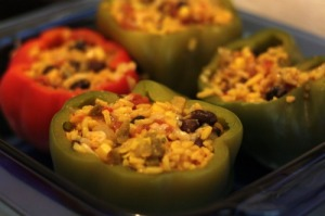 uncooked stuffed peppers